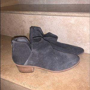 Grey Suede Booties Dolce Vita
